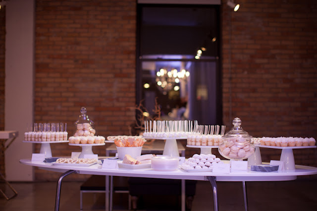 All White Dessert Table by Cocoa & Fig