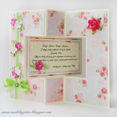 kartki okolicznościowe barbara wójcik kartka typu swing rocznica ślubu
