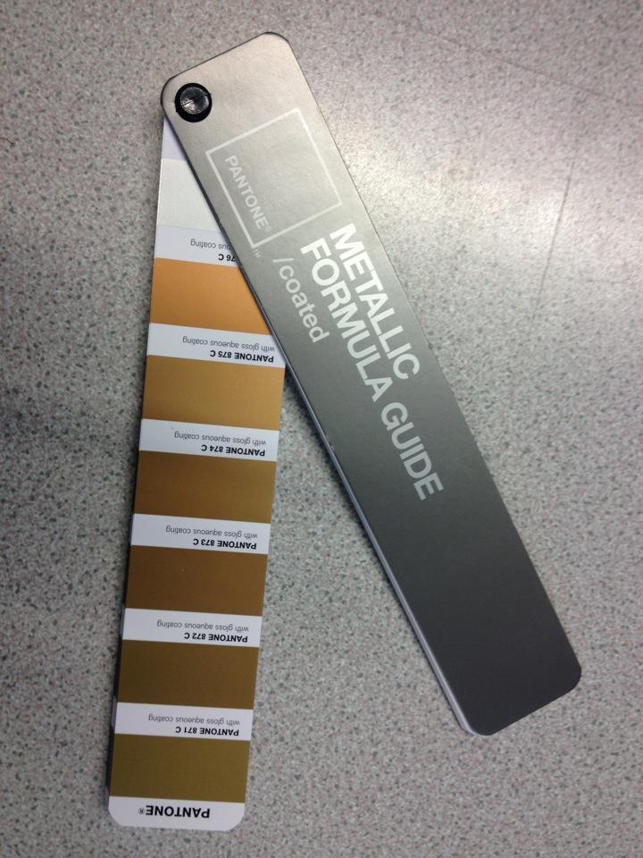 Pantone metallic gold design practice ougd404 colour theory part 4