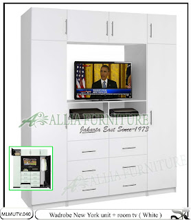 Lemari minimalis elegan tv New york