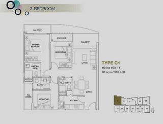 Rezi 3Two 3 bedrooms Floor Plan