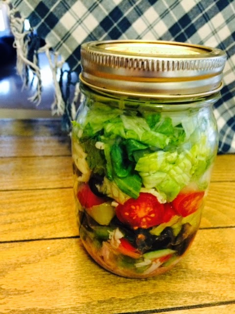 ... Paperie & Wreath Shop: Simply Sunday~ Salads in Mason Jars