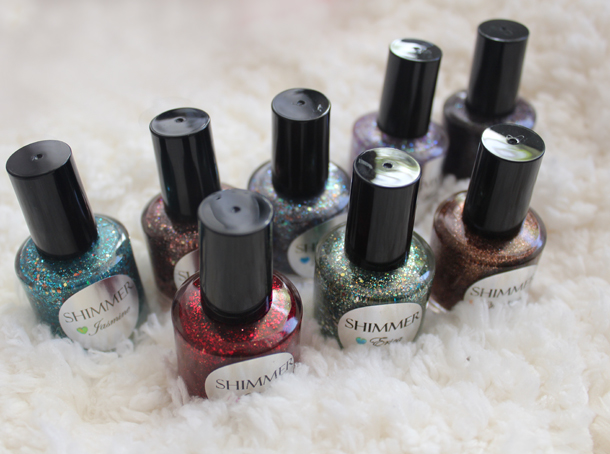 shimmer polishes review swatches etsy
