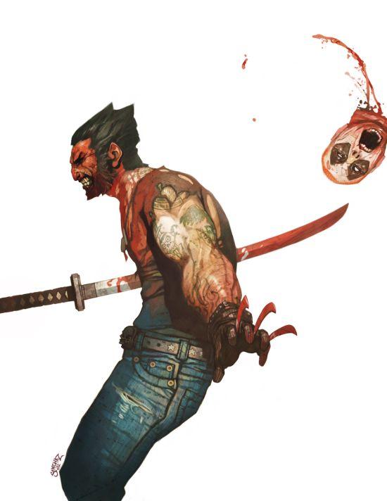 Reynan Sanchez ilustrações fantasia games Wolverine vs. Deadpool