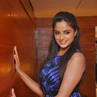 Hot Asmitha sood pics in short blue dress