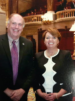 Senator Ritchie and I in Chambers