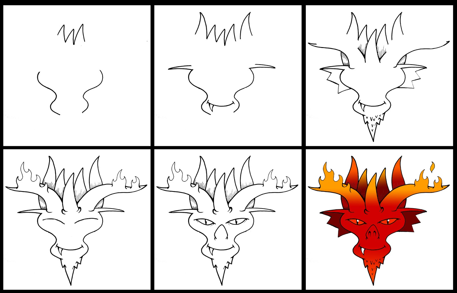 how to draw a demon nose