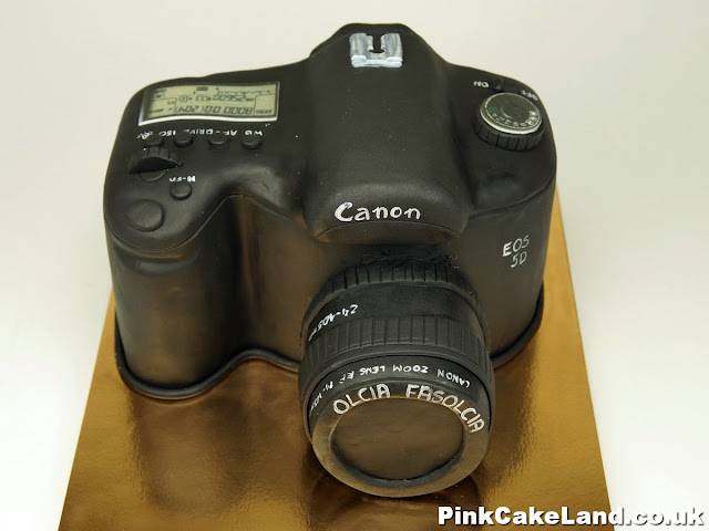 Canon Camera Birthday Cake Chelsea London