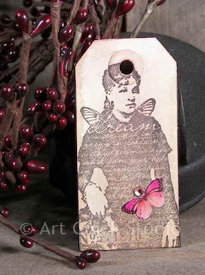 Dream Altered Art Tag