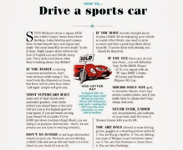How To....Drive a Sports Car