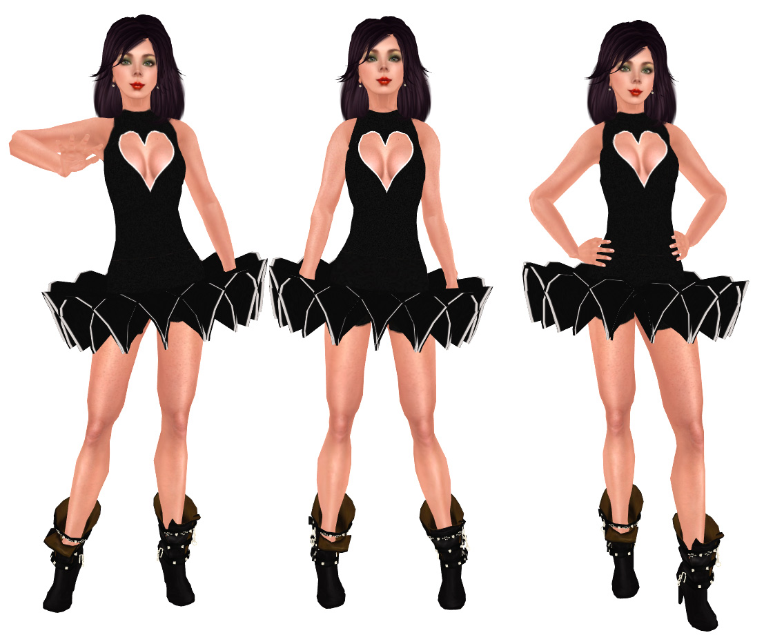 Black dress very - Another Very Sexy Dress Is This One With The Lovely Heart Neckline Shows Your Boobies In A Very Sexy Way It Is By Chatneige Its 1 L