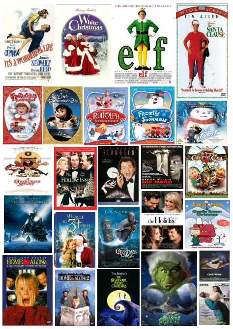 white christmas 1954 3 elf 2003 4 the santa claus 1994 5 santa claus is coming to town 1970 6 the little drummer boy 1968 - Best Christmas Movies List