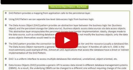 Java ee data access object design pattern key points for Object pool design pattern java