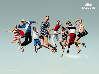 Cool Lacoste Men and Women Wear Ads HD Wallpaper