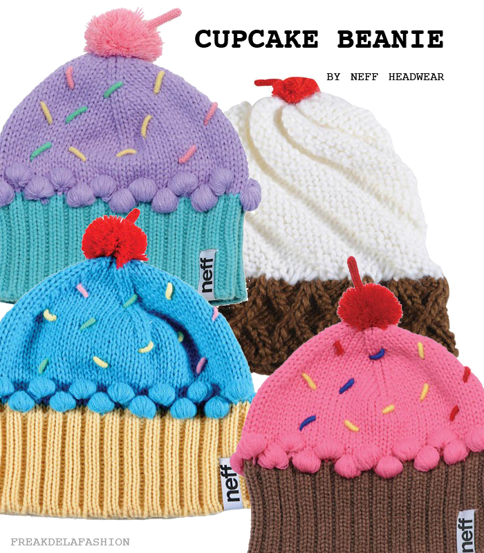 freakdelafashion | Cupcake Beanie | blog | headwear | Neff | beanie | colors | warm | winter | cool | cupcake