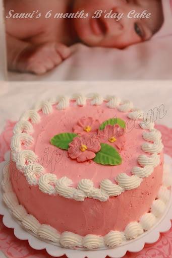 Sanvis 6 Months Birthday Cake