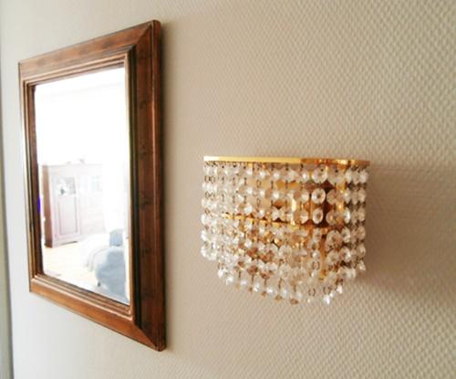 Spiegel Lampe Vintage Retro