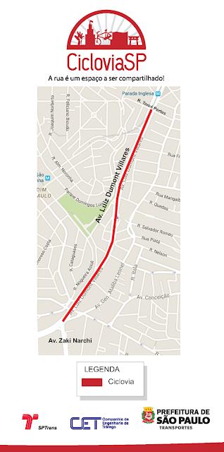 Novo trecho de ciclovia com 1,7 km de extensão na Avenida Luiz Dumont Villares, na Zona Norte da cidade