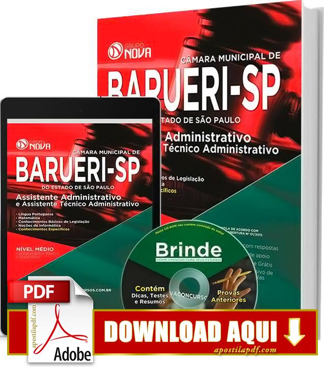 Apostila Prefeitura de Barueri Assistente Administrativo PDF Grátis Download 2016