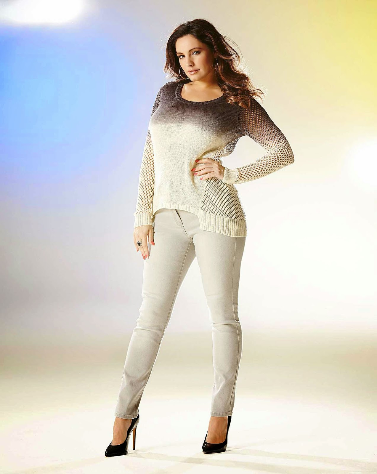 Kelly Brook poses for the 'Simply Be' Spring-Summer 2015 Lookbook