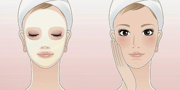 Máscara caseira, limpar os poros