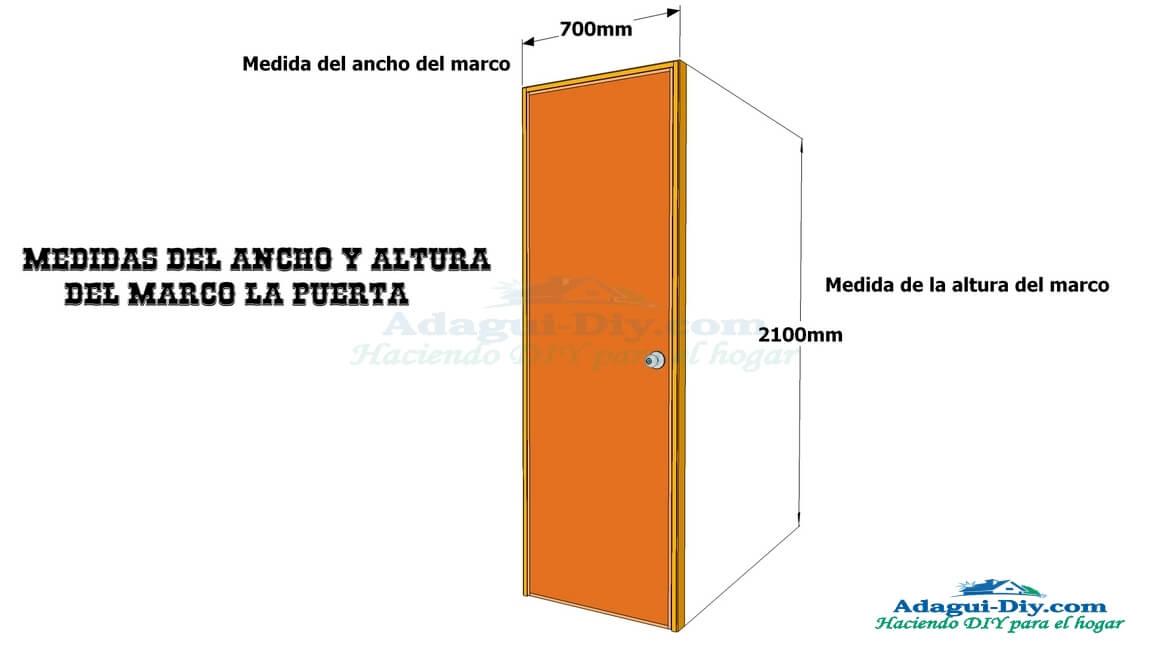 Medidas De Un Baño Normal:Plano de la estructura de puerta contraplacada