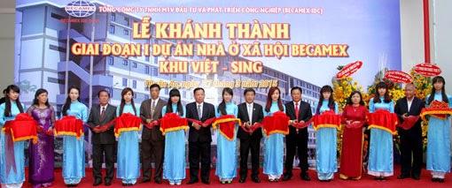 Lễ khánh thành giai đoạn 1 dự án nhà ở xã hội Becamex khu Việt - Sing.