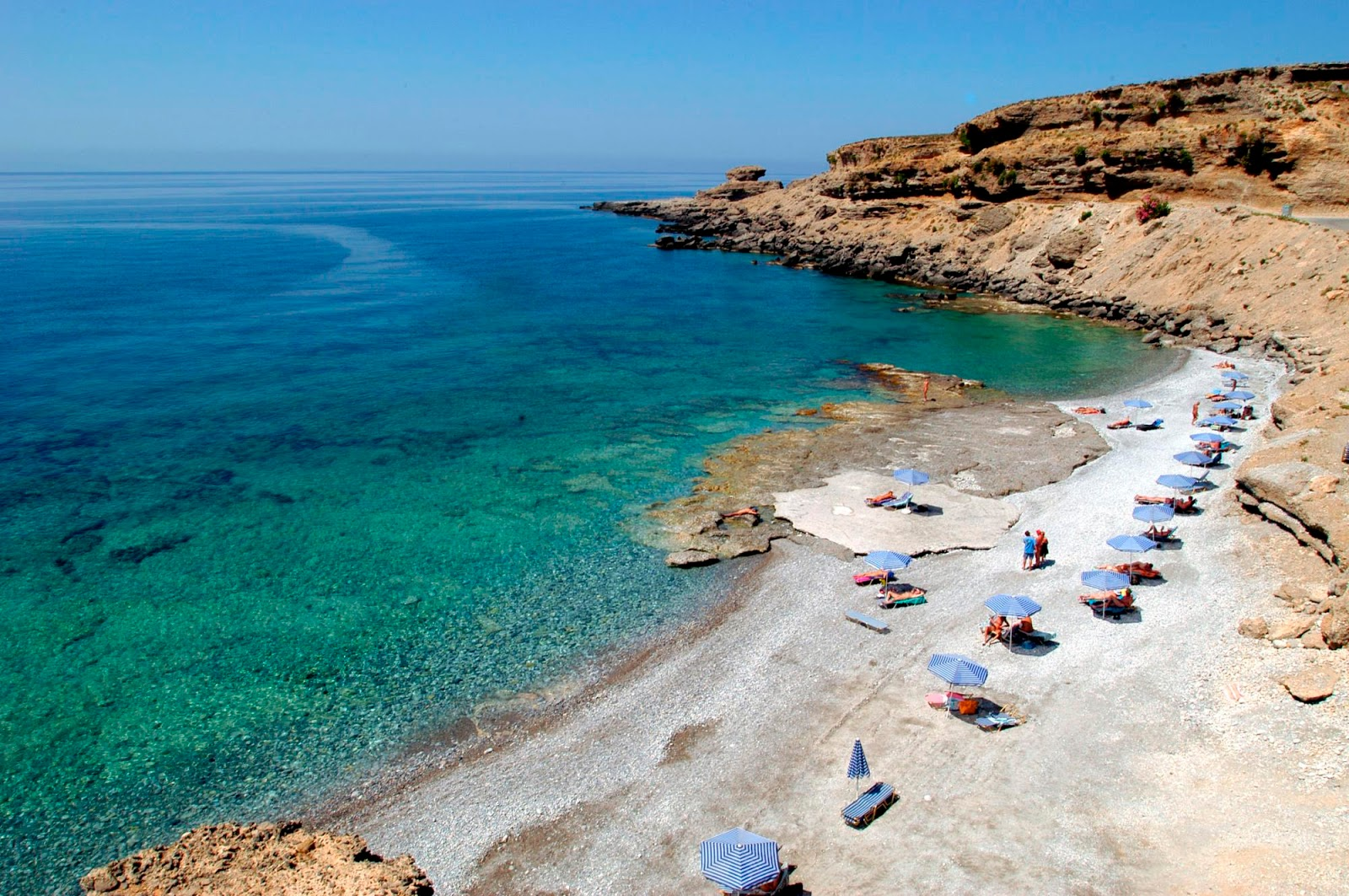 Filaki beach at Vitromartis Naturist Resort (Crete, Greece)