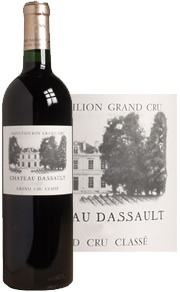 chateau dassault label and bottle shot