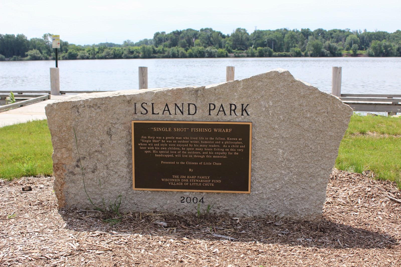 Wisconsin Historical Markers Island Park Single Shot