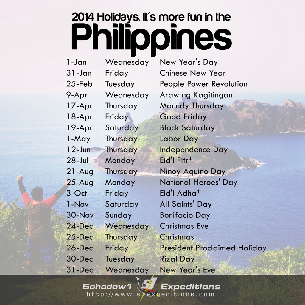 2014 Holiday Calendar Dates
