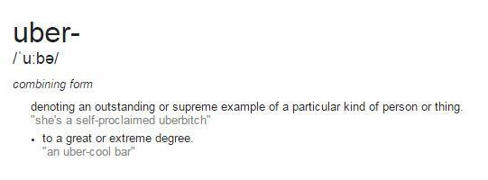 Uber Definition