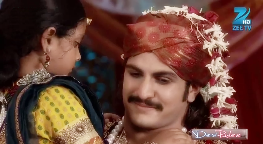 scene 1 jodha and akbar walks together jodha throws rice behind her as ...