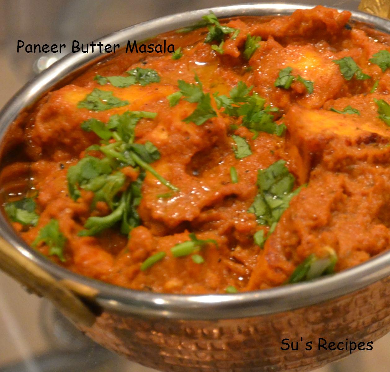 Su's Recipes: Paneer Butter Masala