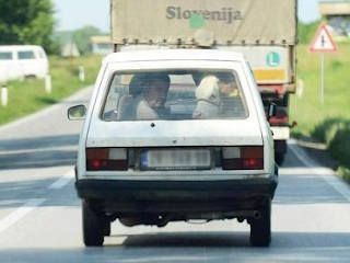 Funny Pictures yugo car