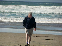 Author Stephen Bly at beach