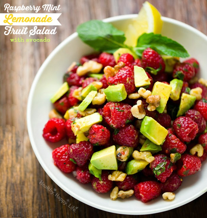 Raspberry Mint Lemonade Fruit Salad