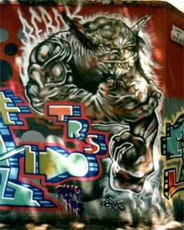 Graffiti monstruo