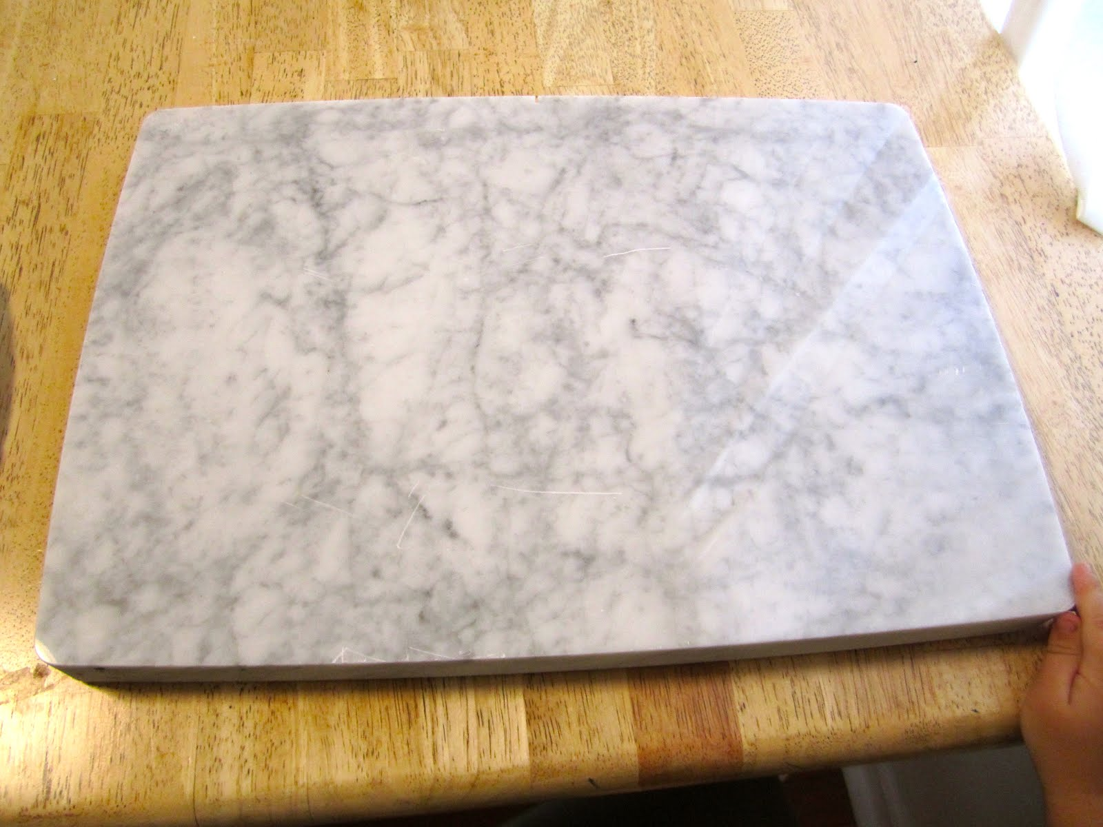 how to clean marble pastry board