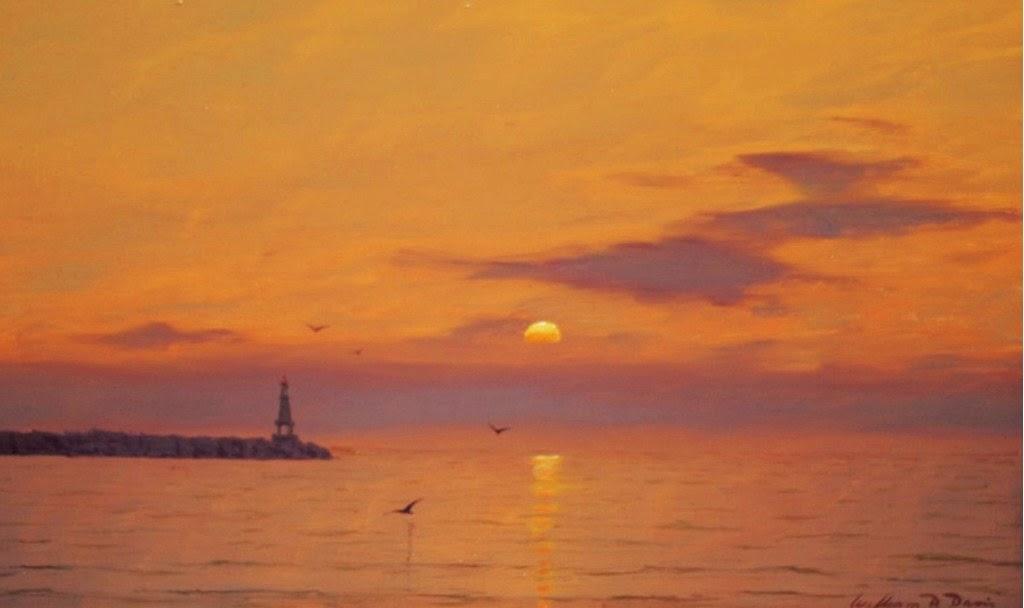 Im genes arte pinturas paisajes atardeceres en el mar - Cuadros de atardeceres ...