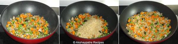 add veggeis and dalia