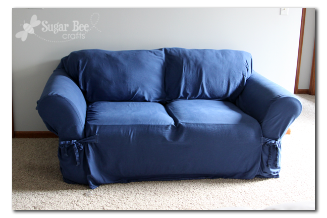 Navy Sofa Slipcover Dyed Couch Slipcover Sugar Bee Crafts