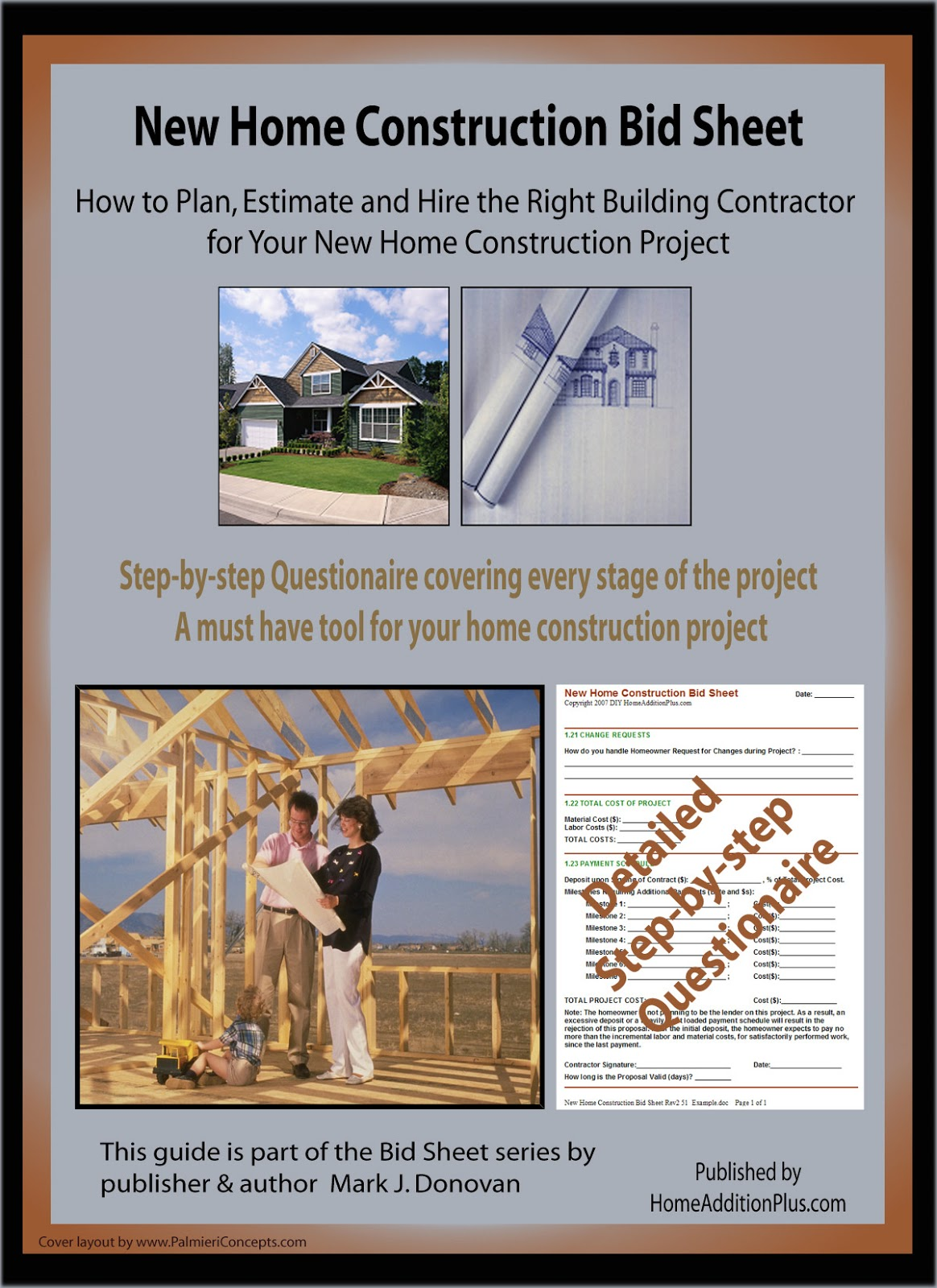Home addition new home construction and room addition bid for New house construction contract