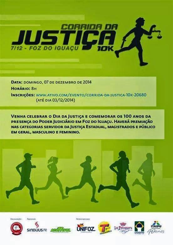 Corrida da Justiça em Foz do Iguaçu - Dia 07/12/2014