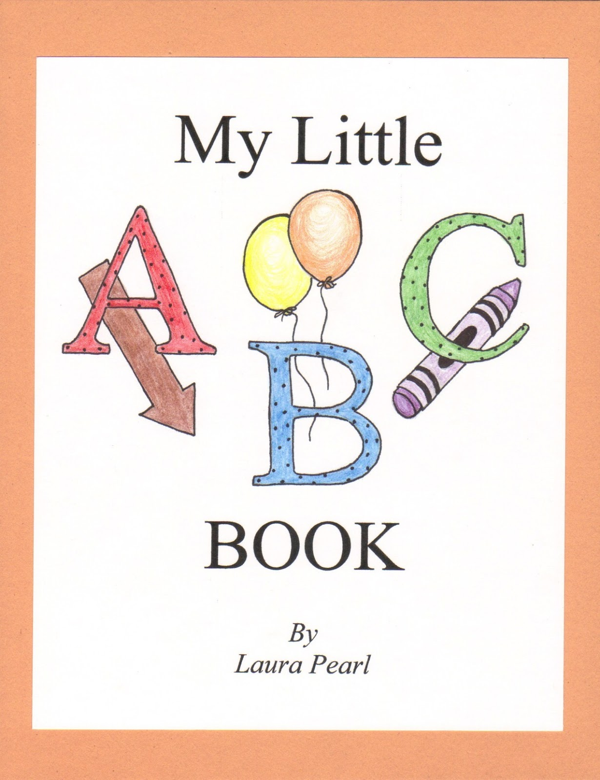 Alphabet Book Cover Printable : String of pearls abc book for the twins