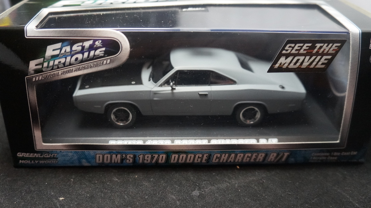 Dom S 1970 70 Dodge Charger R T Grey With Black Hood