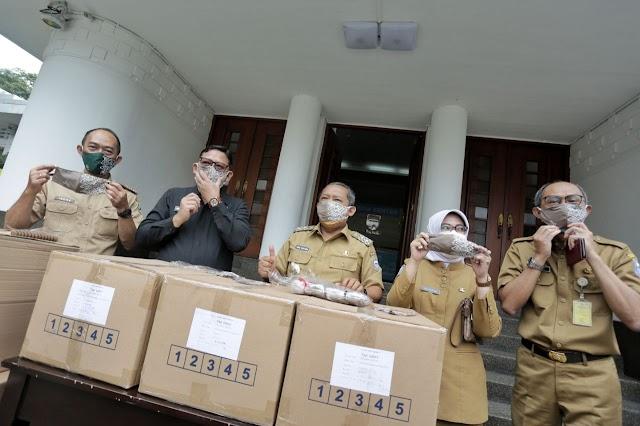 Pemkot Bandung Segera Salurkan Bantuan 200 Ribu Masker Bantuan Pemprov Jabar