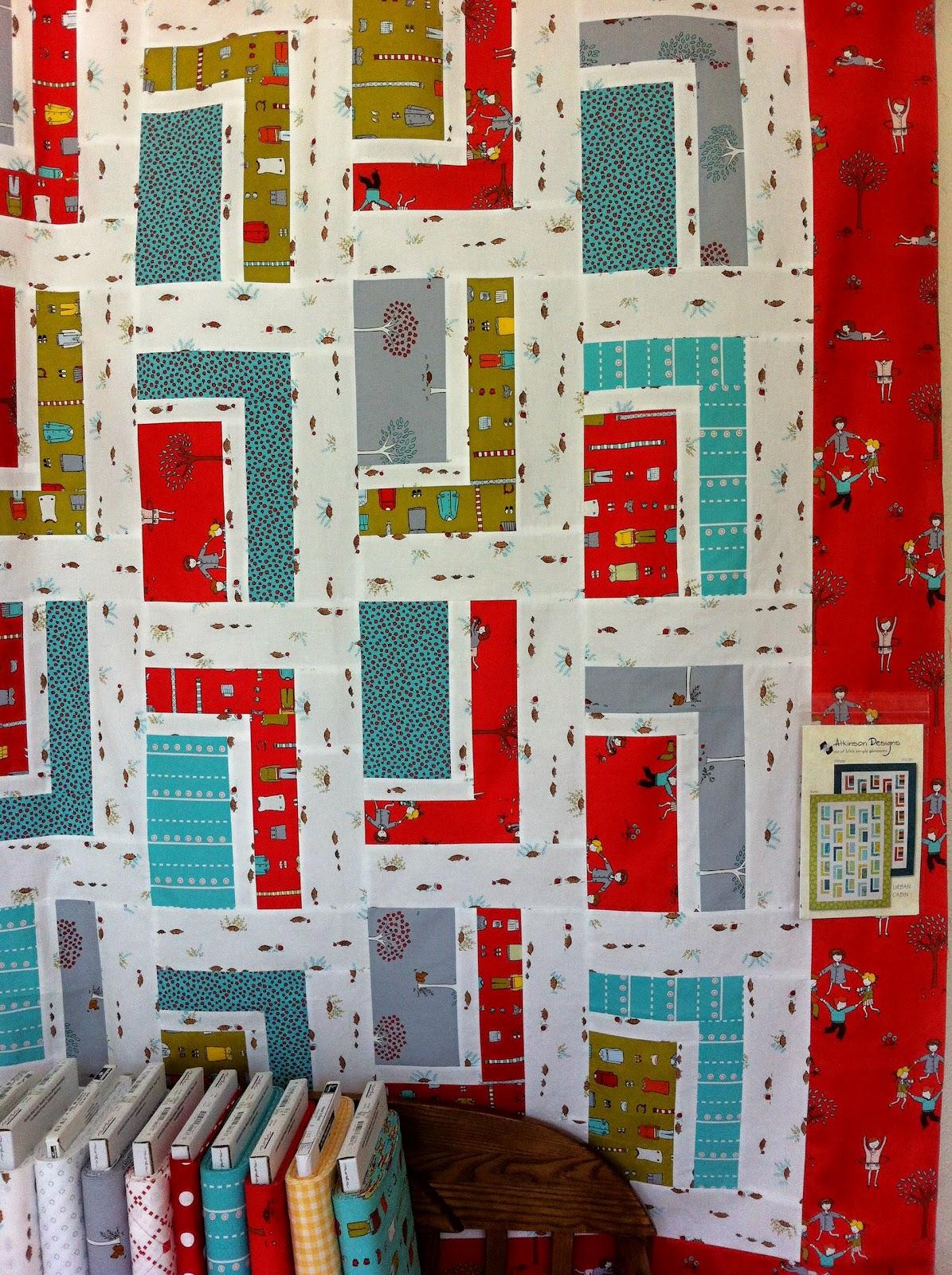 Quilt Pattern Urban Cabin : sew katie jean: summer quilting