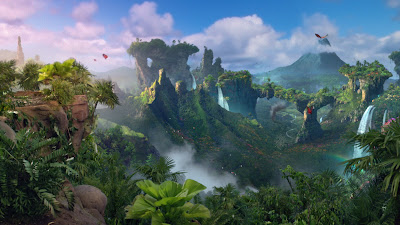 A Panorama of The Island from Journey 2