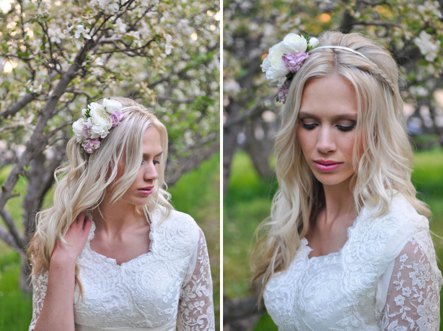 cherry blossom styled shoot, provo utah, anna gleave photography